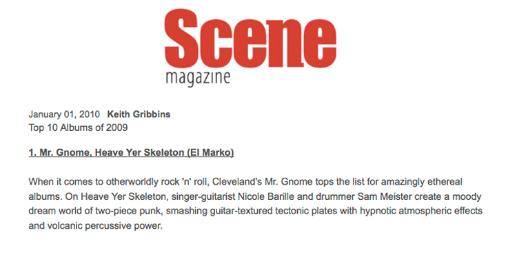 Scene Magazine - Top 10 Albums of 2009January 2010