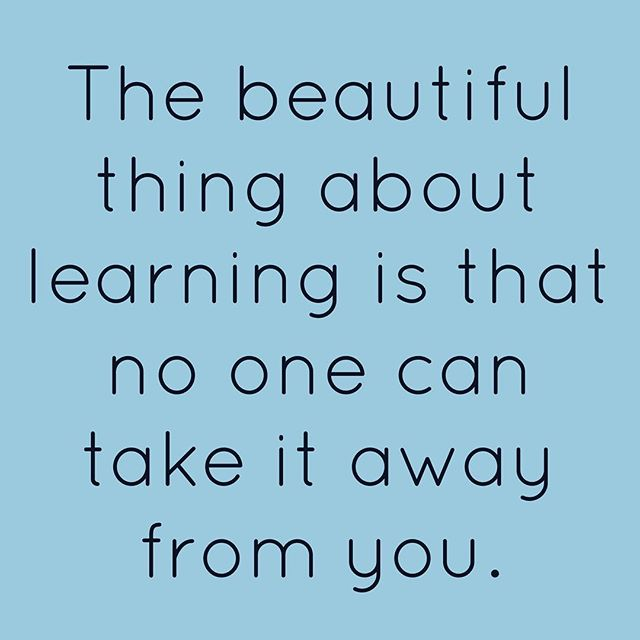 The beautiful thing about learning is nobody can take it away from you. - B.B King