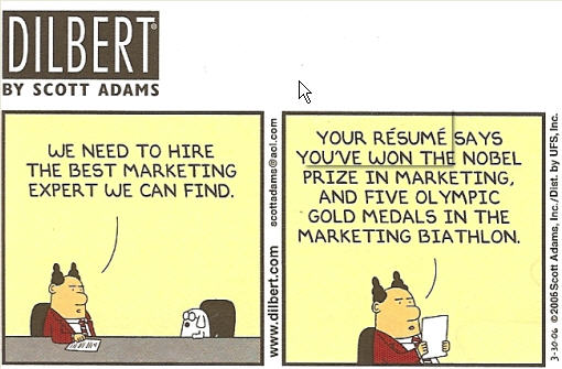 Dilbert Marketing Biathlon