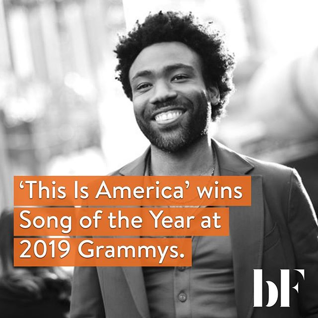 Childish Gambino and Cardi B make Grammy History🎤🎤. Gambino's hit single 'This Is America' took home Record and Song of the Year🇺🇸 - the first rap song ever to win that - as well as rap/sung performance and music video. Donald Glover was not present to collect the honors.. Cardi B became the first solo woman to win the best rap album award for her debut 'Invasion of Privacy'. We like it 🔥💫💯