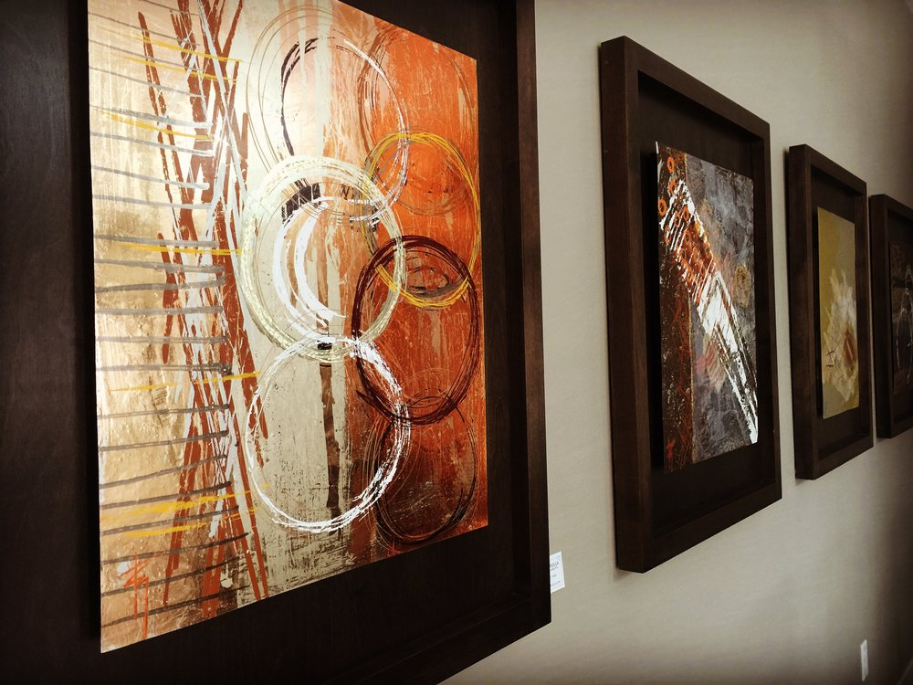 Surfacing Collection - A select series of abstract works of Foil on Metal depicting the ways in which we grow as individuals to