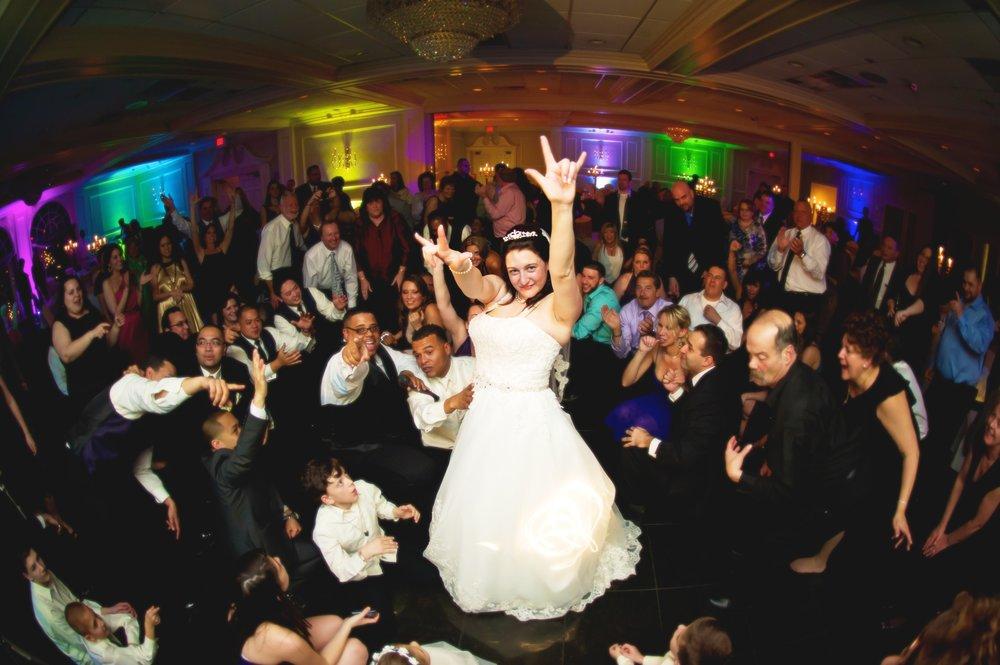 Dancing Bride with Up lighting