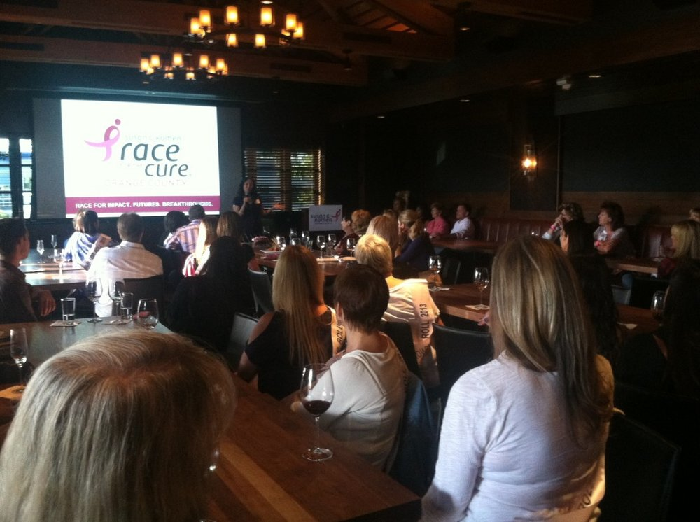 Honor Roll and VIP reception for team leaders for the Race for the Cure