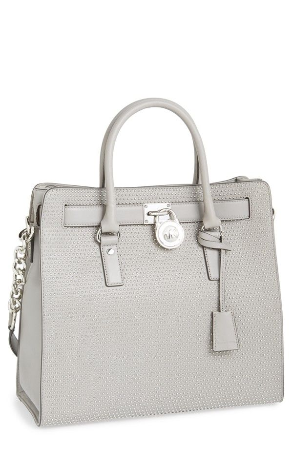 michael kors purse pearl grey lock leather.jpg
