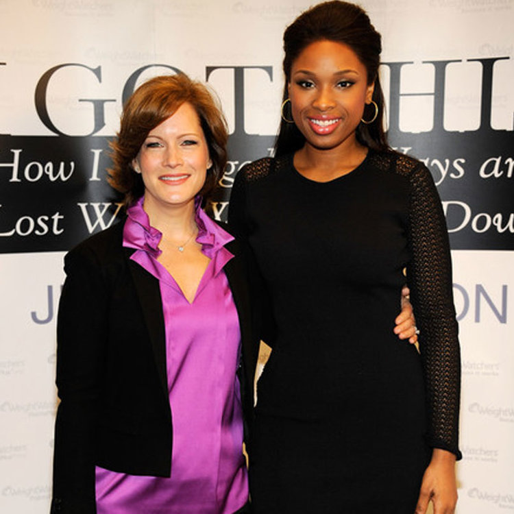 Liz with  Jennifer Hudson