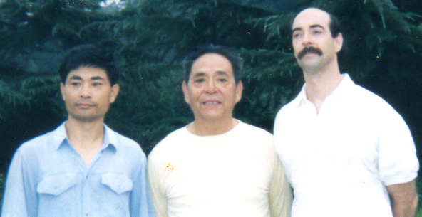Chen Family Taijiquan Master Zhang Yu Fei, Grand Master Feng Zhi Qiang, and Dr. Jerry Alan Johnson, (Beijing, China)