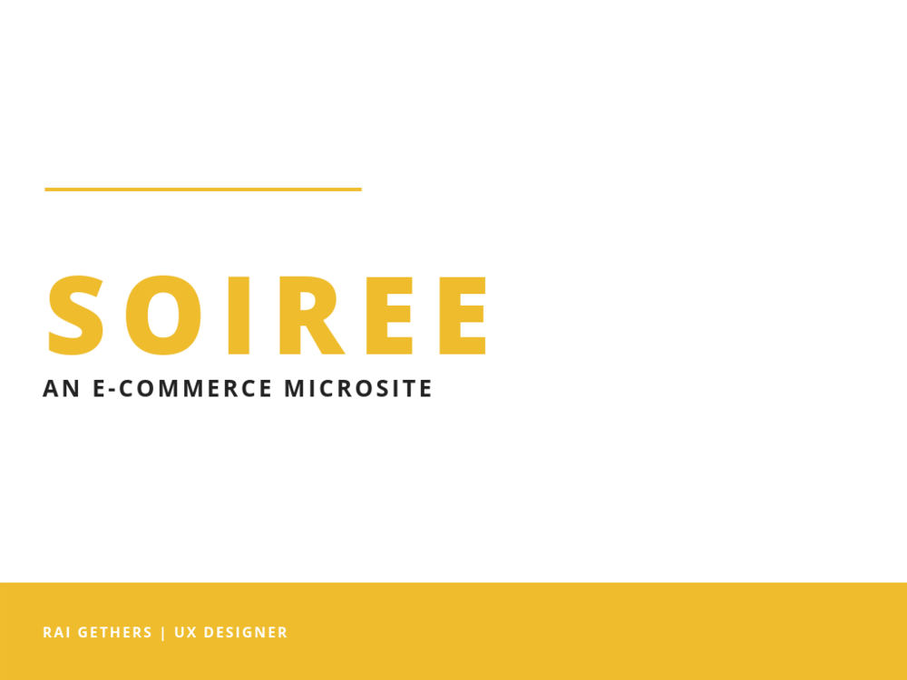 SOIREE - Designed a RESPONSIVE mobile site for Anthorpoolgie that focused on party and occasion wear. Conducted user research and USER testing to create a microsite to address user needs as well as enhance revenue and site traffic.LEARN MORE ➝