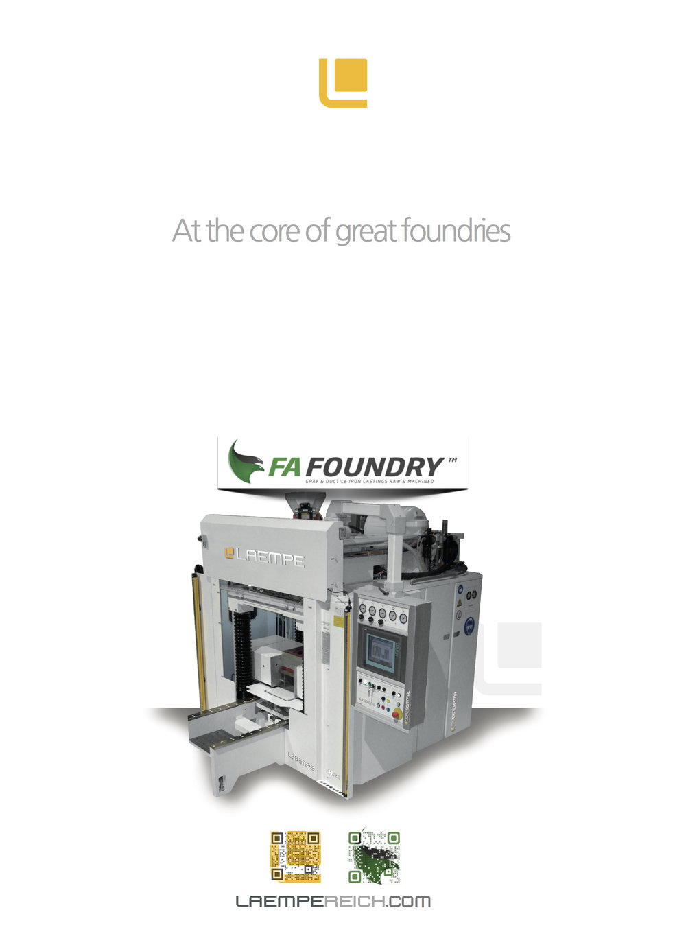 FA Foundry 2014 - At the Core of Great Foundries - Label 3D offset with QR code with new logo.jpg