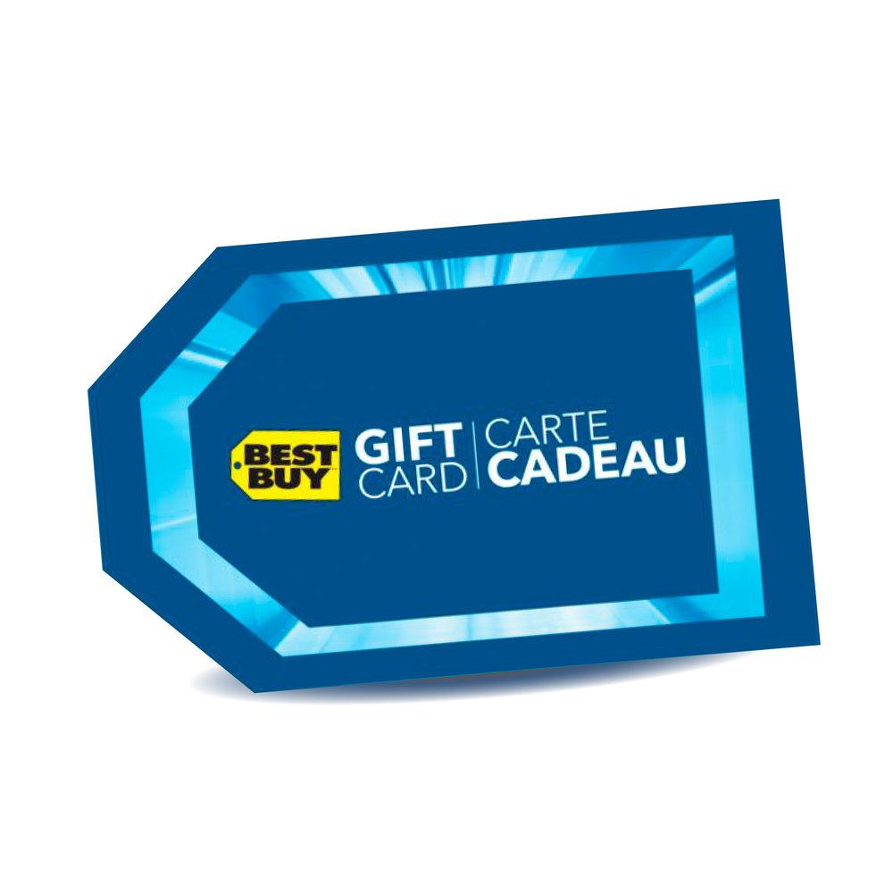 Carte cadeau de Best Buy 1,200$ -  Utilisable en ligne sur BestBuy.ca ou dans n'importe quel magasin Best Buy du Canada - Pas de date d'expiration ni de frais de gestion - Aussi valide pour payer les services du Geek Squad