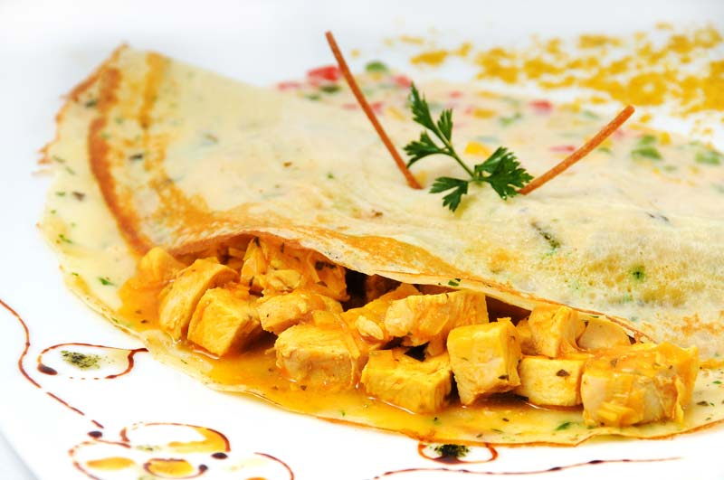 Crepe de pollo al curry $6,09