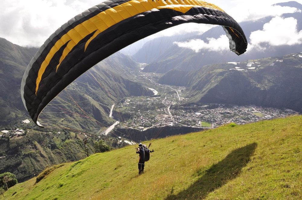 Paragliding in Baños