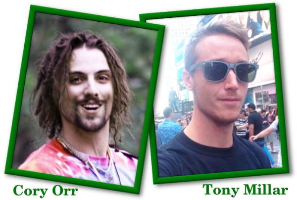 Founders of Alternative Cannabis Consumption Awareness (ACCA), Cory Orr and Tony Millar.
