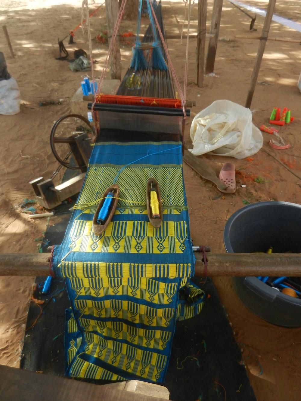 Tissage Mandjak à Dakar