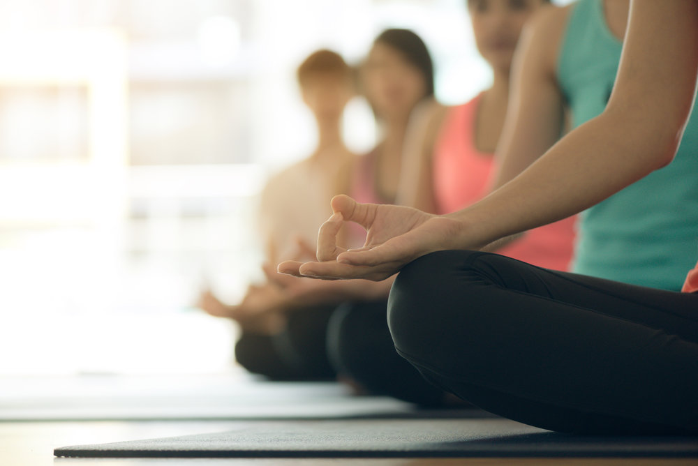 Small Group Yoga Class With Melia In Melbourne Practising Jnana Mudra Meditation