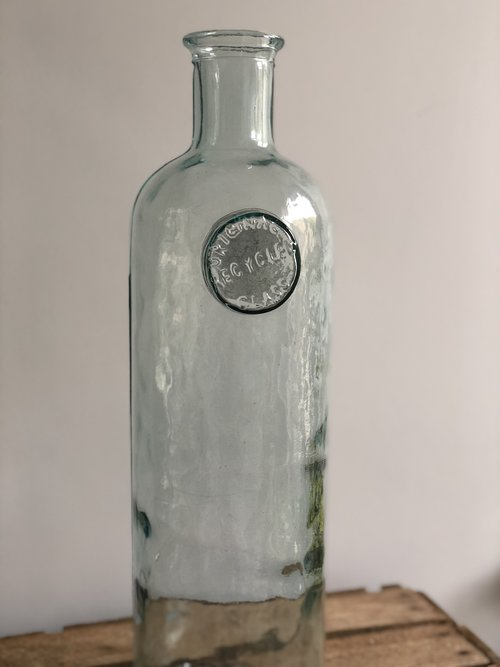 Large Tall Recycled Glass Vase Woodham Blooms