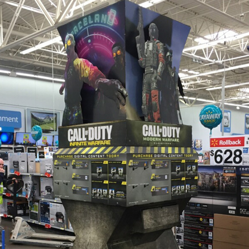 Call of Duty: Infinite Warfare Walmart WOW Display