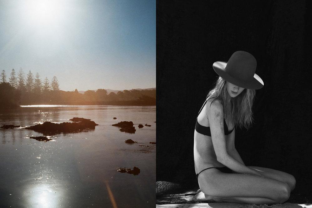 Right: Bikini - San Taylor, Hat - Fallen Broken St.