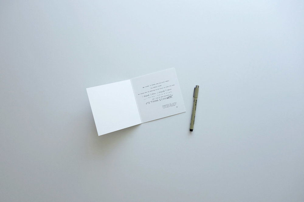 We handwrite your message on a card of your choice. Tell us about your design aesthetic.