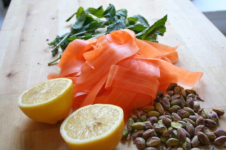 Carrot Salad Prep