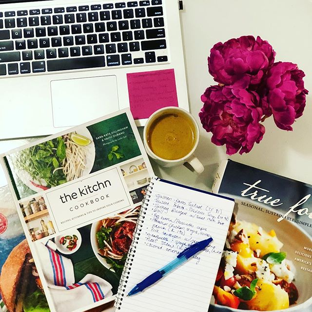 Making (meal) plans.  #cleaneating #personalchef #healthcoach #mealprep #goldenmilk #healthy