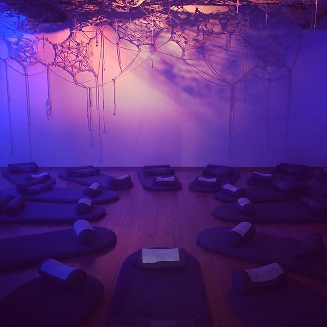 Breaking up the day with a sound bath for a little mental reboot.  #meditation #soundbath #healthcoach #consciousness