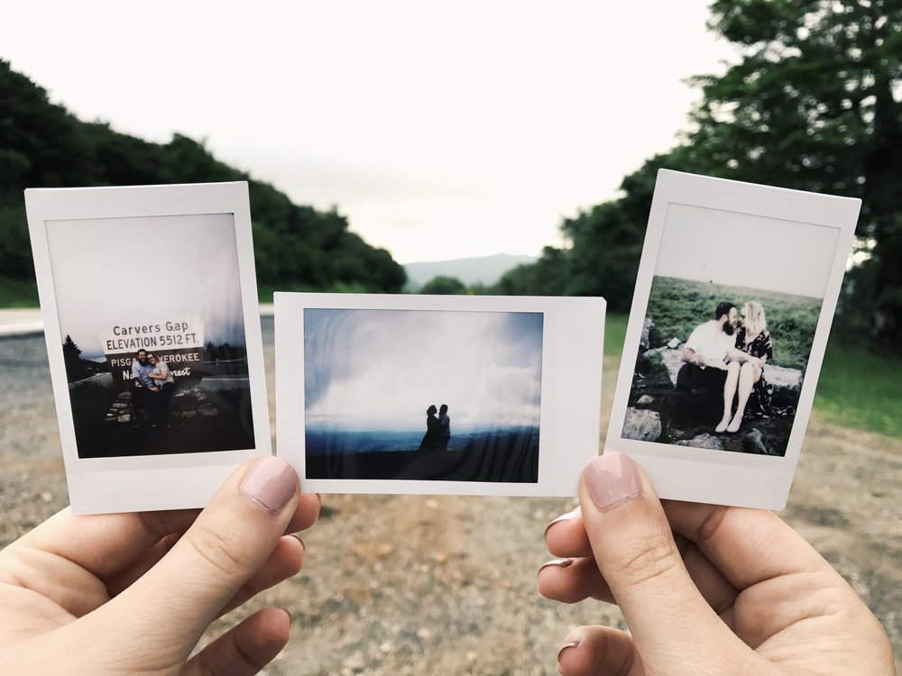 Anna took these polaroids of us throughout our time together. We are forever grateful for them. We can't wait to look at them 50 years from now.