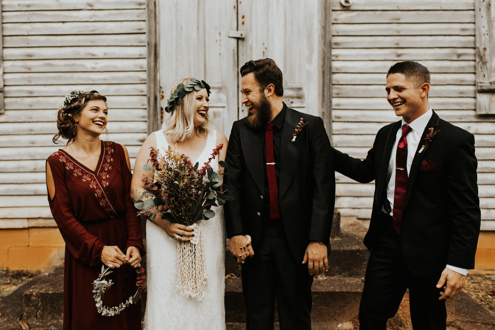 We wanted our day to be focused on Jesus + marriage. We kept everything small + simple. We were so blessed to have these humans support us along the way.