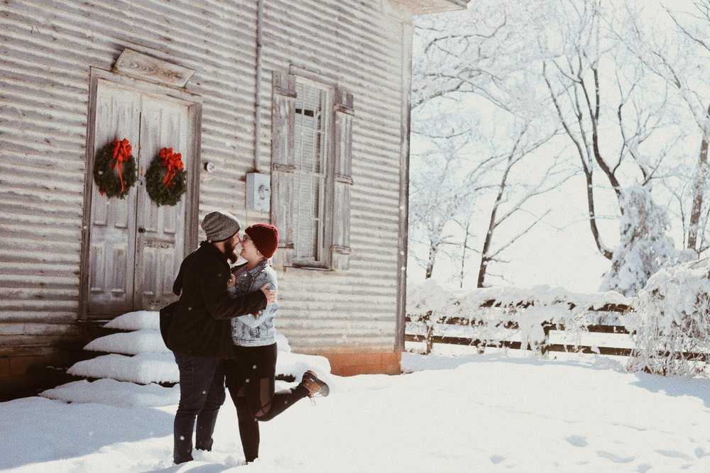 December 8, 2017. 10 inches of snow in GA. This photo was taken at the church where we had our first look on our wedding day.