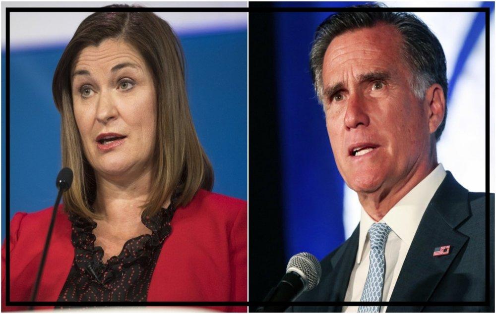 Jenny Wilson and Mitt Romney of Utah