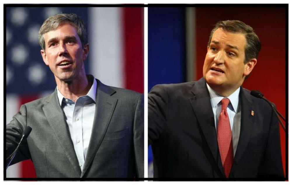 Beto O'Rourke and Ted Cruz of Texas