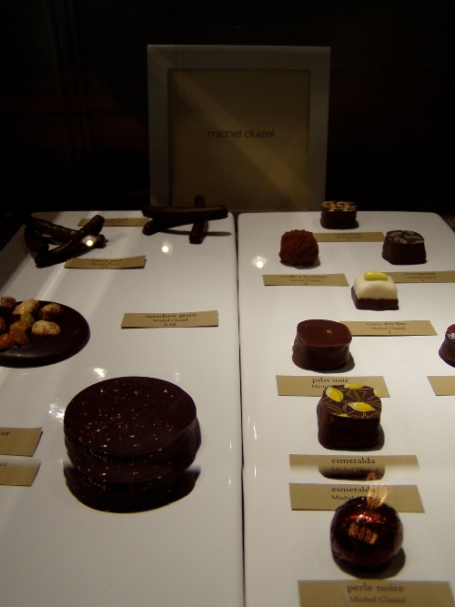 Although Cacao's countertop cases look museum-like the chocolates can in fact be touched and eaten