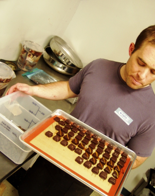 David Briggs has been making his chocolates full time since leaving Park Kitchen a little more than a month ago.