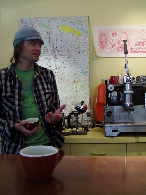 Joel Domreis of Courier Coffee hopes to open a Courier Coffeeshop one day soon