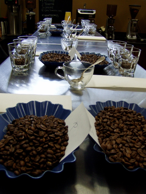 Several times a week employees participate in cuppings that are often open to the public.