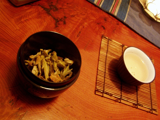 White tea leaf buds from 1,000 year old trees in Yunnan Province.