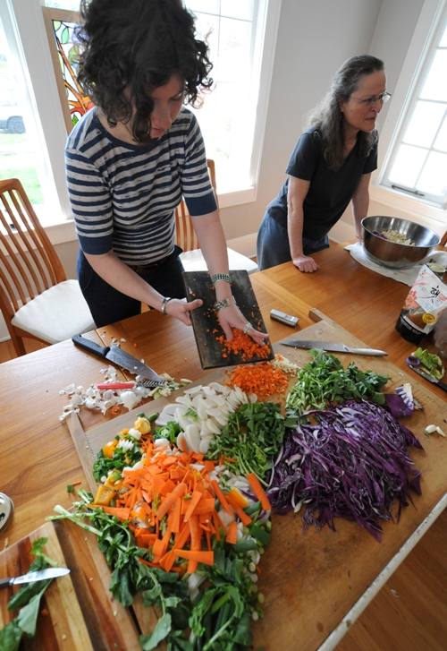 Portland Kraut Collective gets chopping