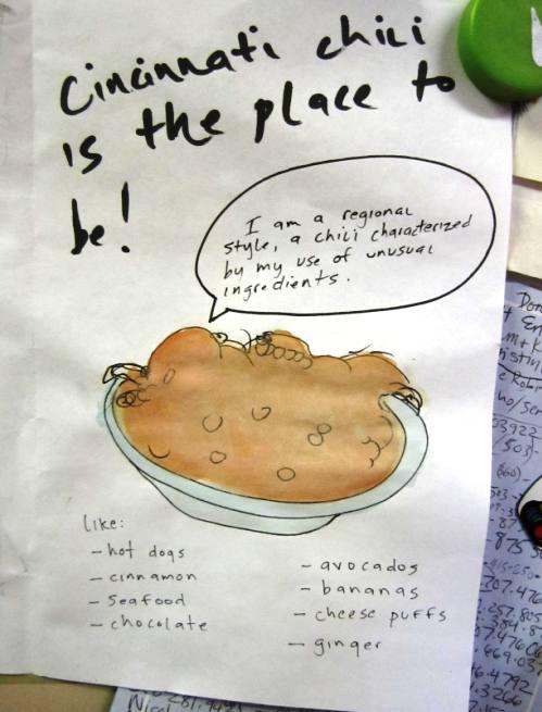 I had no idea Cincinnati chili likes cheese puffs
