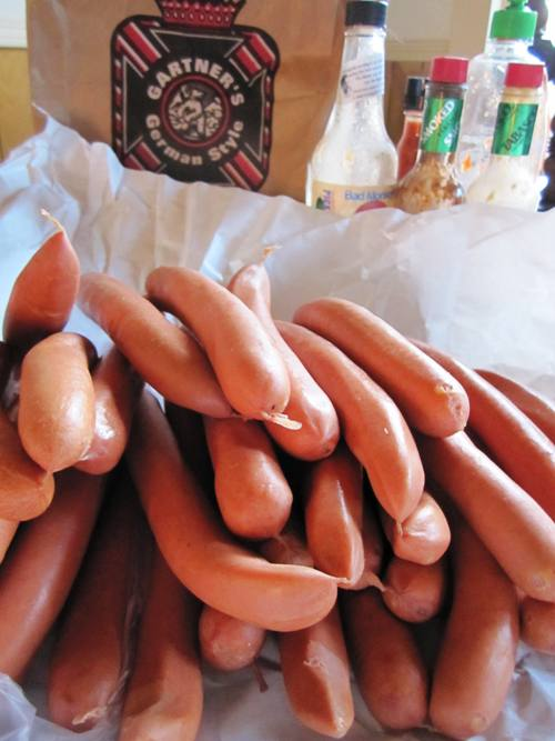 Pork and beef German weiners from Gartner's Country Meat Market