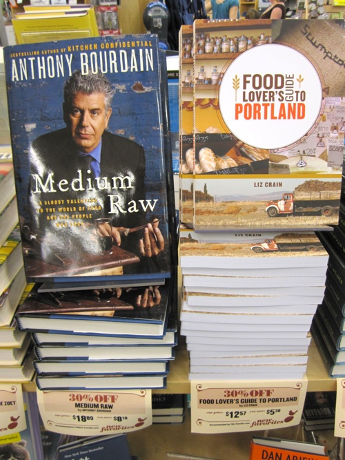 A featured book at my favorite bookstore Powell's and next to one of my favorite national food folks. Doesn't get much better than that...