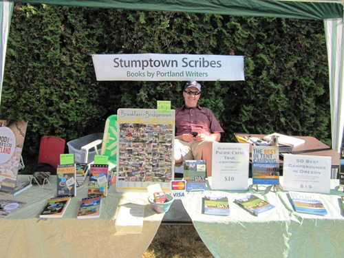 Stumping it with Stumptown Scribes and Paul Gerald at the Overlook Village Celebration.