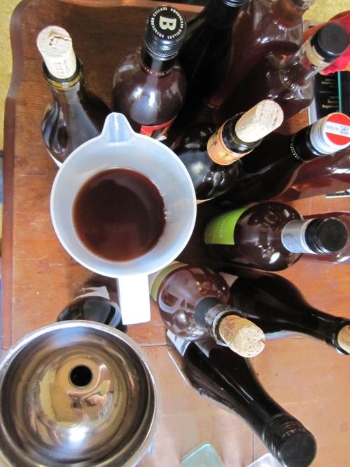 Plum wine -- tree to bottle!