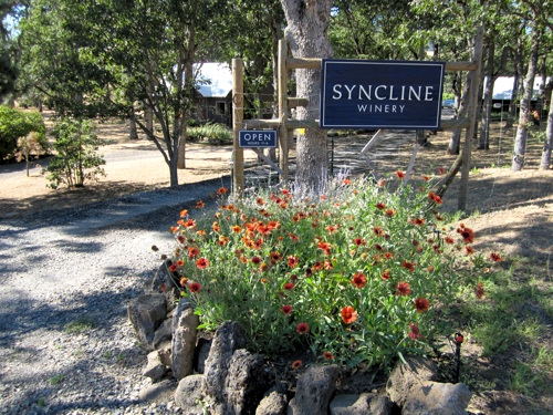 Turn here for Syncline Winery in the Gorge...