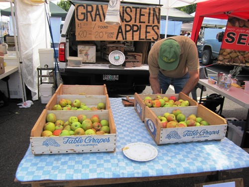 Early apples were on the scene at last Saturday's Beaverton Farmers Market.