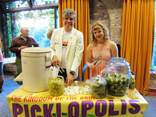 PFF co-organizer (also extraordinaire) David Barber and Bonesaw Wilson serving up crunchy delicious Picklopolis pickles.