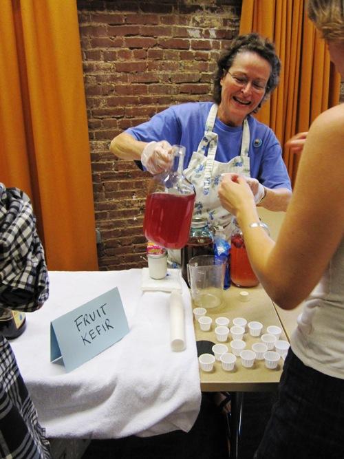 Linda Swanson-Davies' puckery delicious fruit kefir.