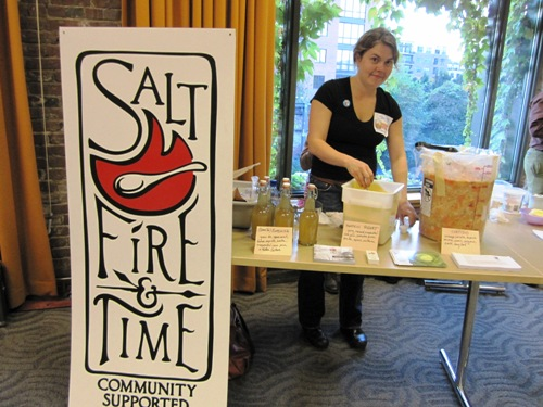 The lovely Tressa Yelig of Salt, Fire & Time shared rocking pumpkin yogurt, green tea kombucha and cortido.