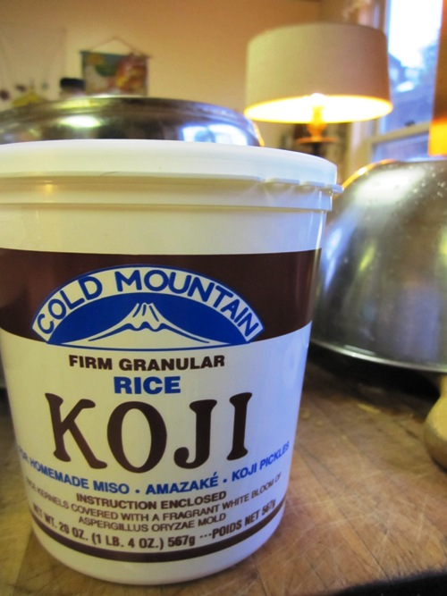 If you're making miso you need to source koji. I bought my koji at Uwajimaya but I know that People's Food Co-op also carries it along with a lot of other Asian markets...