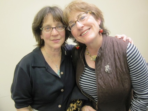 Linda Chaplik and her friend Peggy Flynn at the Food Innovation Center's Time to Market Showcase in December.