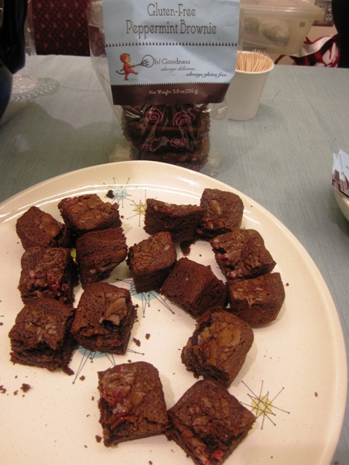 Linda's gluten-free brownies are freakishly good. If you see them for sale somewhere buy them. All.