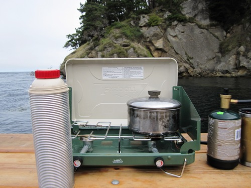 We have a stainless grill too but most of what we cooked on the boat happened here.